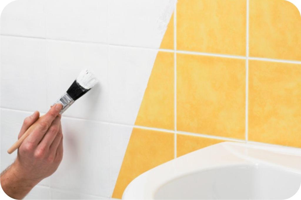 Enjoou do revestimento da sua cozinha ou banheiro tinta - Papel pintado sobre azulejos ...